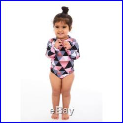 Jamaica mommy and me LOVE package. long sleeves Mother and Daughter matching one piece Swimsuit, triangle print