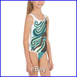 Kids 2T 3 4 5 6 6X 7 Swimsuit toddler bathing suit Girl Mermaid with Shell summer beach water lake pool All-Over Print Kids Swimsuit