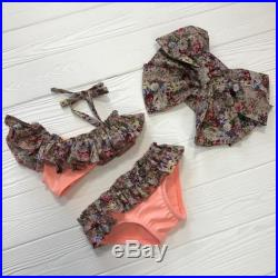 Last sizes Two piece floral swimsuit with ruffles without headbow