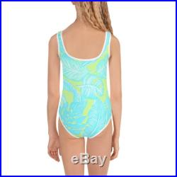 Legz Tropical Oasis Kids Swimsuit in Lime