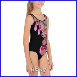 Like Mum Kids One-Piece Swimsuit-hand painted original design-Quality and comfort-Anti UV swimsuit-from 2T to 7