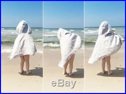 Linen beach poncho for toddler by Lovely Home Idea
