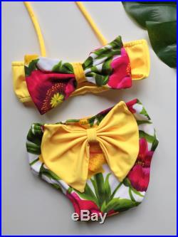 Little Hawaiin Princess baby or toddler bikini swimsuit with adorable bows 2 piece