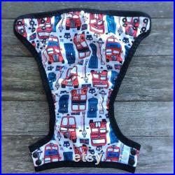London Buses Swim Nappy, Reusable, Swimmers, mcn, cloth nappy, pul, baby shower, baby gift, swimwear, ocean colours, handmade, wetbag