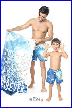 Matching Father And Son Shorts, Mens Swimming Suit, Blue Shorts, Matching Swimwear, Daddy And Me Shorts, Summer Pants, Matching Bathing Suit