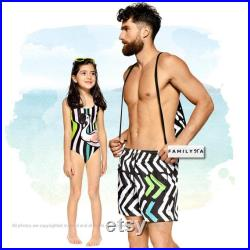 Matching Swimsuit, Matching Father And Son, Grandfathers Day Gift, Men Swim Trunks, Matching Daddy And Me, Mens Shorts, Matching Dad Swim