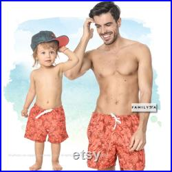Matching Swimsuits, Matching Father And Son, Matching Swimsuit, Boys Bathing Suit, Daddy And Me Shorts, Gift For Dad, Matching Shorts