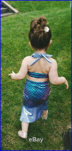 Mermaid swim coverup with matching top set