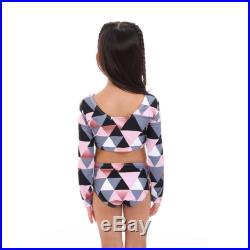 Mini Jamaica long sleeves baby girl. Mother and Daughter matching Bikini Swimsuit, Pink triangle print. Mommy and Me.