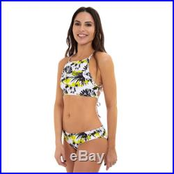 Mini Limon long sleeves baby girl. Mother and Daughter matching Bikini Swimsuit, Yellow floral print. Mommy and Me.