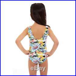 Mini Sunrize Short sleeves round neck Mother and Daughter matching one piece Swimsuit, floral geometric print.