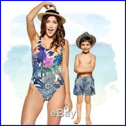 Mommy And Me, Matching Mother Daughter Swimsuit, Floral Swimwear, Hawaii Clothing, Matching Mom Daughter Swimwear, Matching Mother And Son