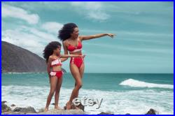 Mommy and me Red Swimsuits, One Piece Swimwear Mother and Daughter, Matching Bikini Set, Mother Daughter Matching Swimwear, Girl swimsuit