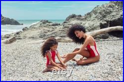 Mommy and me Red Swimsuits, One Piece Swimwear Mother and Daughter, Matching Swimsuits, Mother Daughter Matching Swimwear, Girl swimsuit