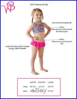Monogram Kids' Turtle Tide Swimsuit Set Toddler Swimsuit with Monogram Personalized Girls' Embroidered Gift