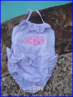 MonogramedGirls Swimsuit, Personalized Swimsuit,Personalized Girls Swimsuit,Seersucker Swimsuit,Monogram Bathing Suit,Monogrammed One Piece