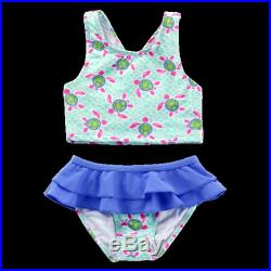 Monogrammed Bathing Suit Personalized Swimsuit Toddler Bathing Suit Set Girls Bathing Suit Set Monogrammed Clothes for Kids Highway12Designs