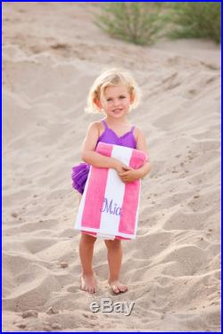 Monogrammed Beach Towels. Cabana striped Pink beach towel name. Summer pool party. Swimming Lessons. Dorm. Kids. Cute name towel.