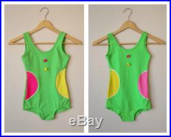 NOS, 1960s Confetti Dot Swimsuit Girls Size 8 10