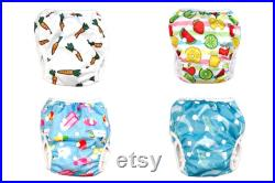 Naughty Sheep Reusable Washable ,Size Adjustable Swim Nappies Swimmng Nappies .For Baby and Toddler Girls and Boys