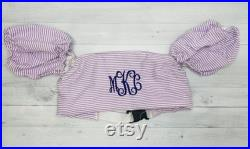 Personalized Puddle Jumper Cover Monogrammed Puddle Jumper Seersucker Gingham puddle Jumper