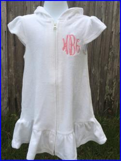 Personalized Toddler Or Girl Bathing Suit Cover Up Bathing