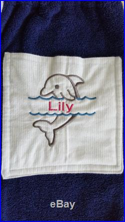 Personalized and Customized Kids Board Towel Shorts with Pocket for Swim Meets and Practice, Pool, Beach and as a Gift