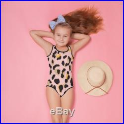 Pink Leopard Swimsuit, Toddler beachwear, Funny Leopard design Swimwear, Girls Pink and Black spotted Swimsuit