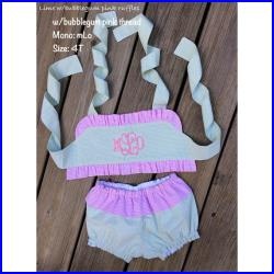 READY TO SHIP Baby Girl 2 piece handmade swimsuit