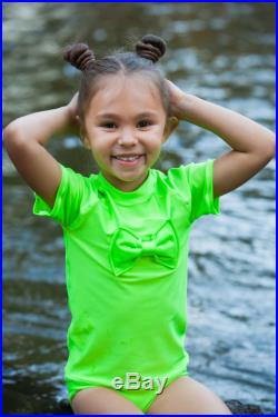Rash Guard Swimsuit Girls Swimsuit Green Swimsuit Two Piece Swimsuit Toddler Swimsuit Rash Guard Swimsuit Girl Birthday Outfit