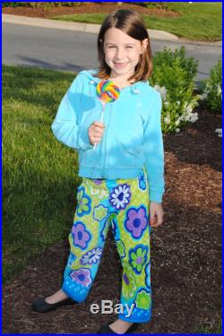 Ready to Ship XSmall -Swimmers Towel Pants, Blue and Green Dots Fun Print, Comfortable, Absorbent, FUN