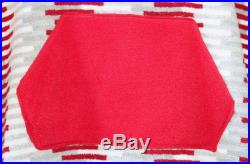 Red Grey Rectangle Pattern Unisex Hooded Poncho Towel for Swim or Bath