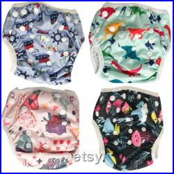 Reusable Swim Nappy Baby Swimmers Adjustable Newborn to Toddlers Diaper washable