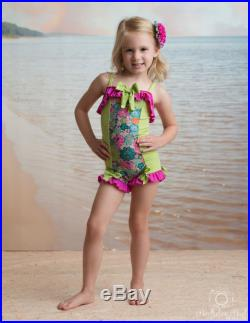 Ruffled Boyshort Swimsuit in Anchors Away SS17 Collection (Size 2-12)