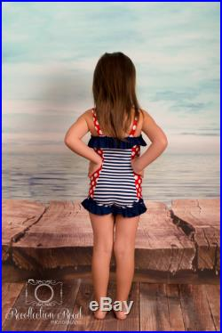 Ruffled Boyshort Swimsuit in Summer Flowers SS16 Collection (Size 2 6) Markdown