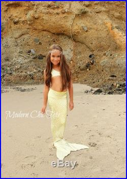 SALE Golden Yellow Swimmable Mermaid Tail
