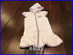 SALE Terry Hooded Swim Suit Cover Up with Embroidered Monogram or Name on Left Chest or Left Hip Above Ruffle