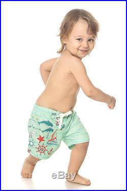Sailor Shorts, Matching Father And Son Swimsuit, Mens Green Trunks, Matching Set Of Shorts, Daddy And Me Bathing Suit, Bohemian Clothing