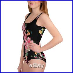 Sakura Cherry Blossom Floral Swimsuit Kids Swimwear Girls Swimwear Bathing Suit Body Suit One Piece Swimsuit Mommy and Me Dance Costumes