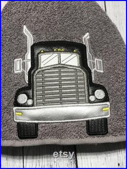 Semi Tractor Trailer Hooded Towel