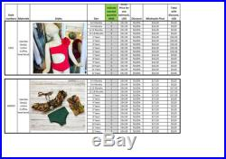 Set of 17 swimsuits according to description