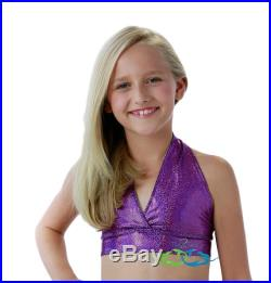 Sparkle Purple Triangle Swim Top to match your 2Tails Mermaid Tail