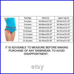 Special Needs Incontinence Swimwear Halterneck for Older Girls 3-16 years old by Kes-Vir