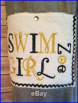 Swim Girl Towel Pants for Kids Or Teens Personalized with Name