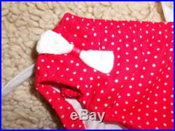Swimsuit Bathing Suit Girls 3-4T Red with white polka dot