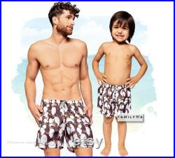 Swimsuit Penguin Shorts, Dad And Son Shorts, Gift From Son, Matching Shorts, Daddy And Me Matching Swimwear, Father And Son Matching Swim