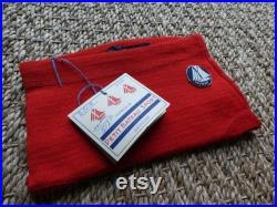 Swimsuit Petit Bateau vintage new years 5O red Magic'Puce child 50's- made in France old stock new size 2 4 years