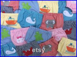 Toddler Swim Pant Covers, Diaper Covers, applique', Gingham, diaper pants, little girls, little boys, toddlers, swim suit