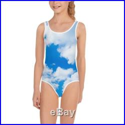 Toddler Swimsuit Harajuku Cloud Sky Overlay One Piece Swimsuit Mommy and Me Figure Skating Gymnastics Leotard Bathing Suit Dance Costumes