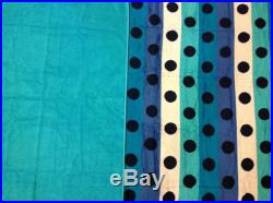 Towel Pants Black Dots on white and blue